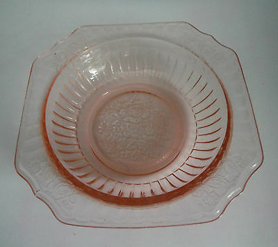 Hocking / Cereal Bowl / Pink Mayfair Open Rose / 1931-1937 /  Depression Glass