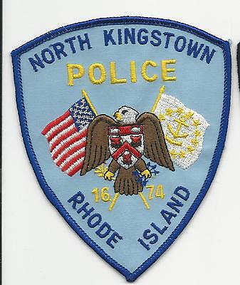 North Kingstown Police  Rhode Island RI with cloth back