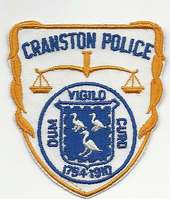 Cranston Police  Rhode Island RI with cloth back
