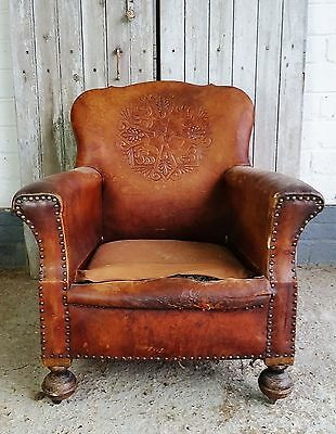 Vintage leather sofa and two armchairs - complete restoration project !!