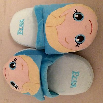 Stompeez ELSA 'FROZEN' slippers For Kids Size Small