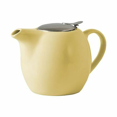 Avanti - Camelia Buttercup Yellow Ceramic Tea Pot with Stainless Steel Lid and I