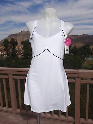 NWT Eleven by Venus Williams women's large white tennis athletic dress bra