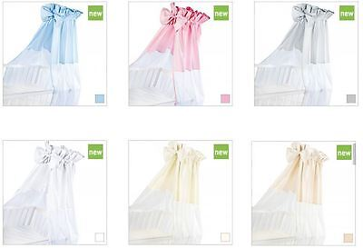 Baby cot bed canopy and holder drape 6 different colours