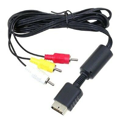 CAVO ORIGINALE Audio Video AV Sony Playstation 3 PS2 PS3 S-video 3 rca cable