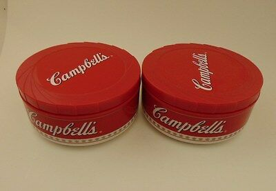Set Of (2) Campbell's Soup Insulated Travel Bowls With Lid