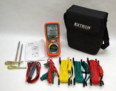 Extech Earth Resistance Tester Kit 382252 w/ Leads and Case