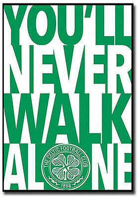 "Celtic FC You Will Never Walk Alone Fridge Magnet Size 2.5""x 3.5"""