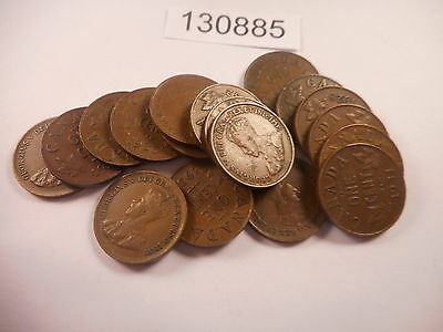 Lot - 17 Canada Small Cents - All Dated in the 1920's-30's - # 130885 Low Start