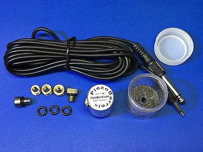 PiezoBarrel 'Sol' Woodwind Pickup Microphone and 4m Cable and inserts for DIY