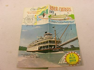 S.S. Delta Queen 1961 River Cruises Booklet St Paul Pittsburgh New Orleans