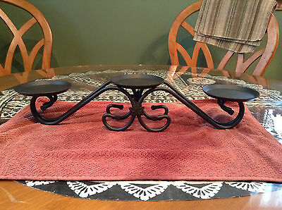 Longaberger wrought iron candle holder