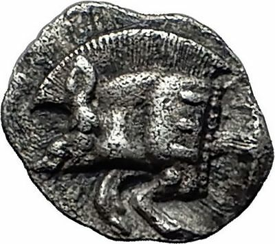 KYZIKOS Cyzicus in MYSIA 450BC Boar Pig Lion Ancient Silver Greek Coin i57985
