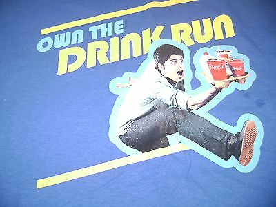 McDONALDS T SHIRT - OWN THE DRINK RUN - SIZE MEDIUM