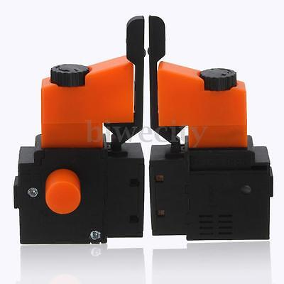 1/2x FA2-6/1BEK Lock on Electric Hand Drill Speed Control Trigger Switch 250V 8A