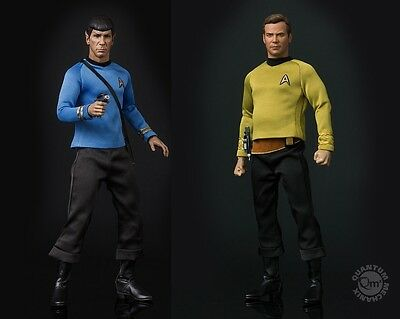 Star Trek TOS Captain Kirk & Spock 1:6 Scale Articulated Figure Quantum Mechanix