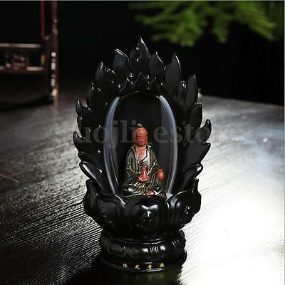 Waterfall Ceramic Incense Smoke Backflow Guanyin Censer With 10 Burner Cones