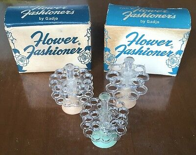 2 Vtg Gadjo Flower Fashioners - Florist Flower Holder Frogs