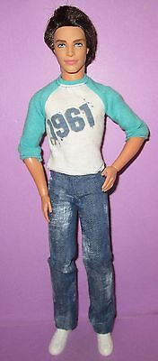 Barbie Fashionistas Poseable Jointed Ken Male Boy Ryan 1961 Articulated Doll