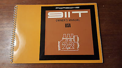 1970 Porsche 911T - Owners Manual - USA Edition - Original Print and Excellent