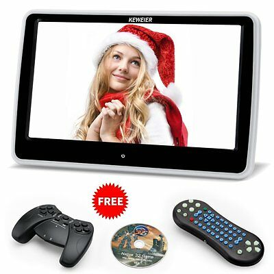 New Headrest DVD Player 10.1 Inch Touch Screen SD USB Files Car Mount Fast Ship