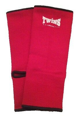 Twins Red Elastic Ankle Supports / Twins Muay Thai / (Size - Medium)