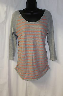 Liz Lang Maternity Ladies Small 3/4 Sleeve Casual Striped Top