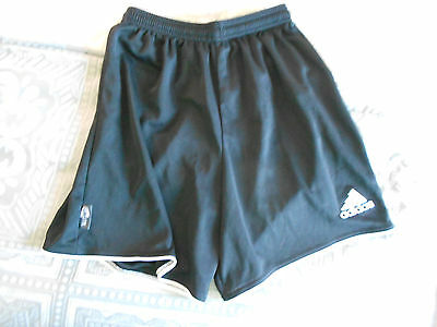 Adidas Climalite Soccer Athletic Shorts Black White Youth Size Large