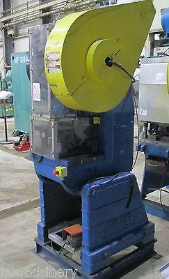 """25 Ton Rousselle OBI Power Punch Press  20""""x 14"""" Bed Hole Punching Metal Forming"""