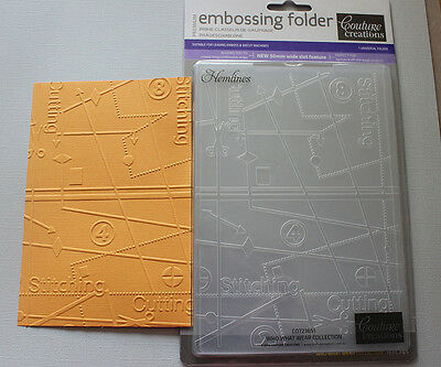 """Embossing Folder Couture Creations 5"""" x 7"""" - HEMLINES"""