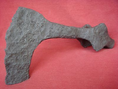 ANCIENT VIKING LONG & HEAVY IRON BATTLE AXE HEAD 4th - 7th Century