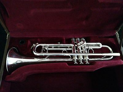 Pristine D. Calicchio Silver Plated Trumpet with Deluxe Bach Artisan Case