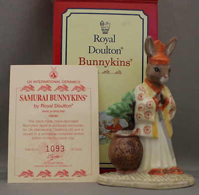 "Royal Doulton Bunnykins -  ""Samurai""  -  Limited Edition, New in box, FREE Card."