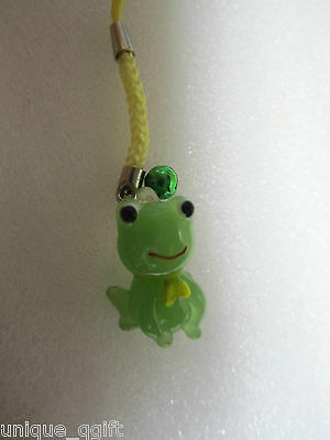 Handmade Glass frog frogs key bag charm Cell Phone strap  Ca un301