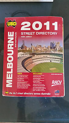 2011 UBD Melbourne Street Directory 4th Edition