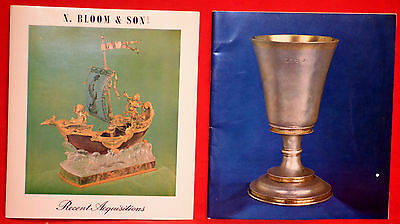 RARE Very Nice Set of 2 N.BLOOM & SON Fine Antique Silver & Jewels Catalogs
