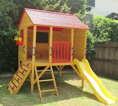 Cubby House Oscar Kids Outdoor Fort Playhouse Timber Wooden.