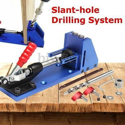 Pocket Hole Drill Jig Woodworking Kit Portable Hole Jig Joinery System For Kreg