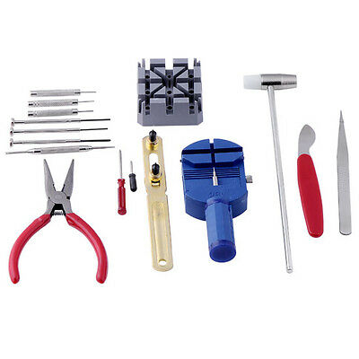 16Pcs Repair Tool Kit Back Case Remover Opener Spring Pin Bar for Watchmaker New