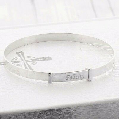 Personalised Children Expanding Bracelet Sterling Silver Birthday Christmas Gift
