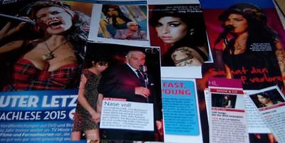 Amy Winehouse 20 pc German Clippings Full Pages