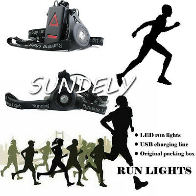 New Hi-Q Night Running Flashlight USB Charge Chest Lamp Torch For Outdoor Sports