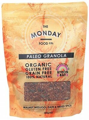 3 X MONDAY FOOD CO Paleo Granola Walnut, Dates & Spices - 300g