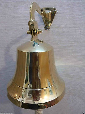 Nautical Brass Ships Bell 6 inch 15-2 cm with Mounting Bell Gift