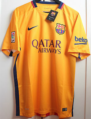 Bnwt Jersey Shirt Camiseta Fc Barcelona Barça Nike Away 2015/2016 15/16 Yellow