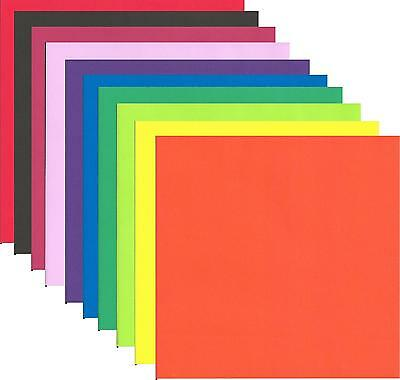 500 Sheets Double Sided Origami Craft Paper in Assorted Colours in Cardboard Box