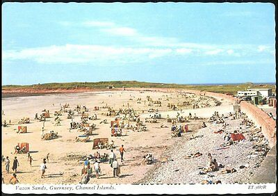 Vazon Sands Guernsey C. Isles - Valentines Posted 1971