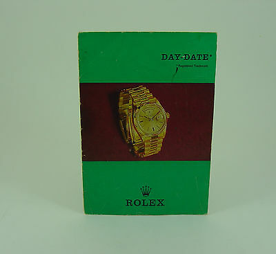 Genuine Rolex vintage 1803 Day-Date booklet/brochure 1970