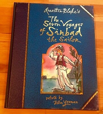 QUENTIN BLAKE SIGNED SINBAD AND SEVEN VOYAGES 1st