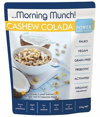 3 X POWER SUPER FOODS Morning Munch Cashew Colada 275g